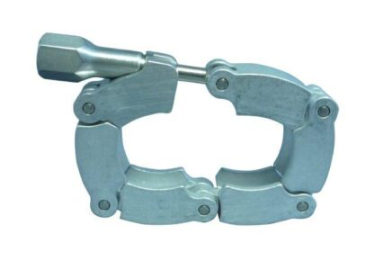 Chain clamp Aluminum / steel for elastomer seal, DN16KF/DN10KF
