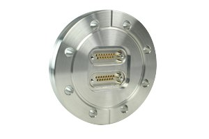 D-type subminiature feedthrough two-15-pin on DN63CF flange