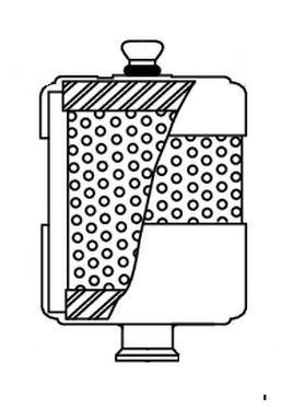Oil mist eliminator for high flow applications. DN25KF connection