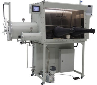 I-Lab 2 Glovebox including large and small antechamber left hand side. Including O2 and H2O analyzers