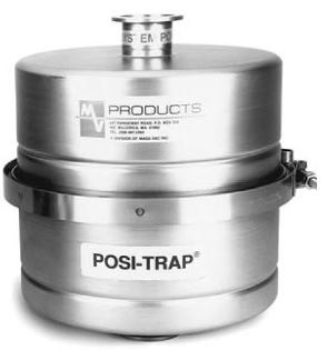 4 inch Posi-Trap foreline filter suitable for different filter elements. Straight through version with DN25KF flanges