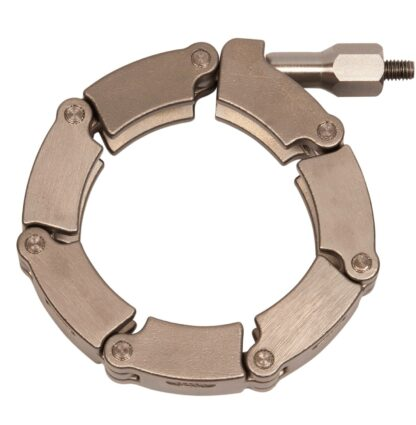 Chain clamp with stainless steel links for metal seals DN63