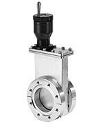 Manual operated Viton sealed gate valve, DN100CF