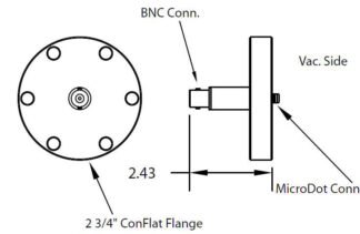 1 MicroDot to BNC connector, DN40CF