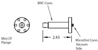 1 MicroDot to BNC connector, DN19CF
