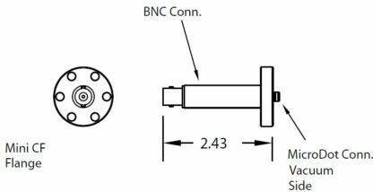 1 MicroDot to BNC connector, DN19CF