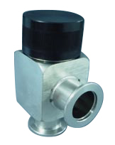 Manual operated, bellow sealed angle valve, DN40KF