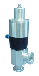 Pneumatic operated normally open Aluminum angle valve, DN16KF, including position indicator and solenoid