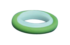 Centering ring POM with Perbunan O-ring, DN40KF