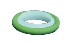 Centering ring POM with Perbunan O-ring, DN16KF