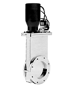 Pneumatic operated Viton sealed gate valve, DN80ISO-K, incl. 24VDC solenoid