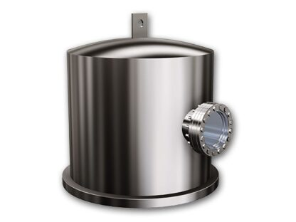 """Stainless Steel bell jar with single viewport, lifting lug, and heater. diameter 12"""" height 12"""""""