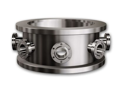 """12 inch collar H = 6"""" with L-shaped gasket and 4 of DN40KF ports"""
