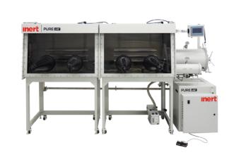PureLab HE 4 gloves dual module Inert work station - 2500mm long x 900mm deep. Gas purifier sold seperately
