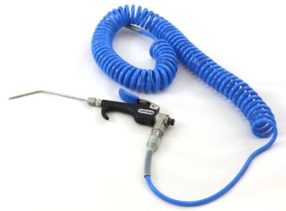 Heli-Jet spray gun, with 150mm long nozzle and polyurethane spiral tube 1 - 4 meter