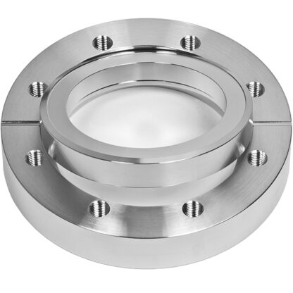 Bored flange rotatable with bore 18mm, DN19CF, 6 tapped bolt holes M4, stainless steel 316L