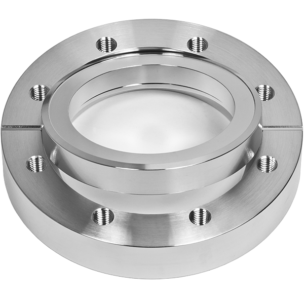 Bored flange rotatable with bore 154,3mm, DN150CF, 20 tapped bolt holes M8, stainless steel 316L