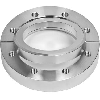 Bored flange rotatable with bore 204,3mm, DN200CF, 24 tapped bolt holes M8, stainless steel 316L