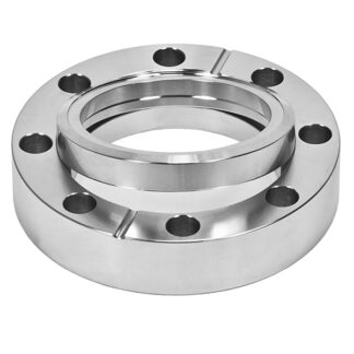 Bored flange rotatable with bore 204,3mm, DN200CF, 24 bolt holes, stainless steel 316L