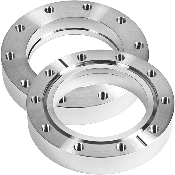 Bored flange non-rotatable with bore 70,3mm, DN63CF, 8 tapped bolt holes M8, stainless steel 316L