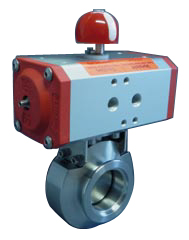 Pneumatic operated butterfly valve DN25KF, with position indicator, with solenoid