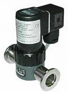 Electromagnetic operated straight-through valve, Viton sealed, DN16KF flange, 24VDC