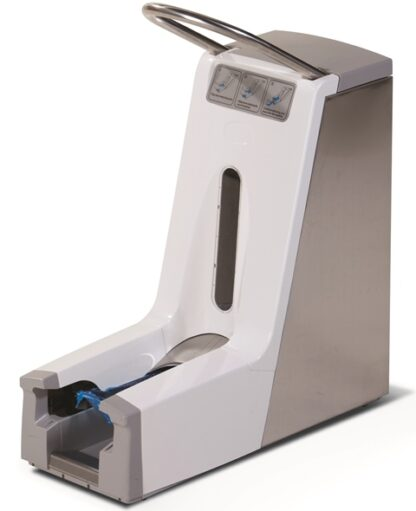 Shoe cover automat with 220 Shoe cover storage capacity. No electricity required