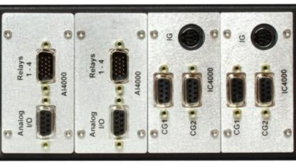 FlexRax 4000 Slots 1 and/or Slots 2,3 or 4 AI/O-R* option (4 setpoint relays, 4 analog outputs, 1 analog input)