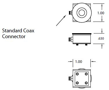 Single Quartz Crystal sensor square holder non-cooled