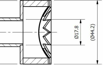 "Pressure burst disc 1/8"" NPT male, UHV compatible. Ruptures if pressure in the vacuum system > 0,8 Bar above Atm. Pressure"