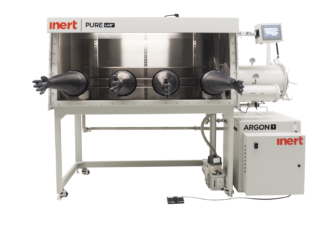 PureLab HE double sided 4 gloves dual module Inert work station - 2500mm long x 1000mm deep. Gas purifier sold seperately