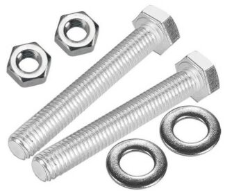 Silver plated hex head bolts with nuts and washers for DN40CF flanges