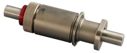 """Rotary and push pull feedthrough nickel plated brass for shaft 1/4"""" with 1"""" baseplate fitting"""