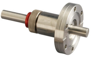 "Rotary and push pull feedthrough stainless steel 303 for shaft 1/4"" with DN40CF flange"