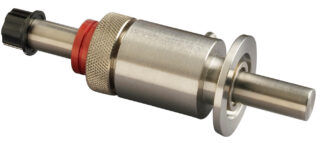 "Rotary and push pull feedthrough stainless steel 303 for shaft 1/4"" with DN16KF flange"