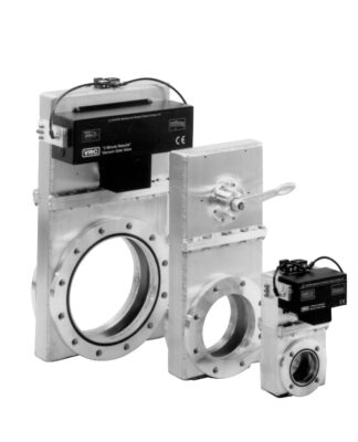 Manual operated Aluminum viton sealed gate valve, DN250ISO-F flanges both sides