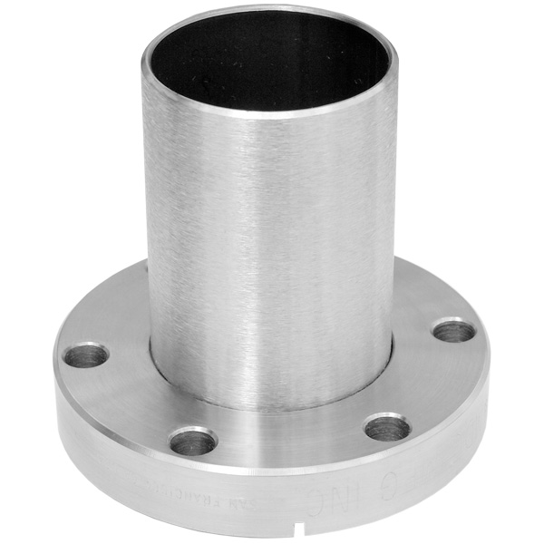 Half nipple fixed flange DN63CF, height 105mm, stainless steel 316L