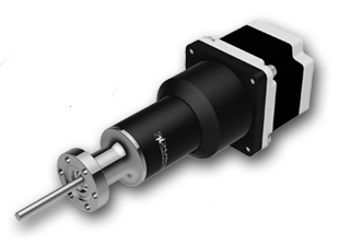 Motorized rotary motion feedthrough with anodized Aluminum body, DN16KF flange