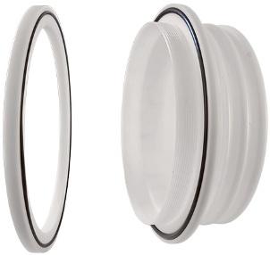 Glove port feedthrough including O-ring. POM material. diameter 220mm