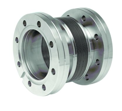 Edge welded bellow with DN100CF flanges, L = 95 - 170mm
