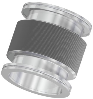 Edge welded bellow with DN160ISO-K flanges, L = 318 - 118mm