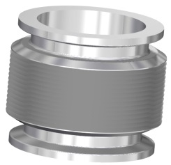 Edge welded bellow with DN50KF flanges, L = 264 - 64mm
