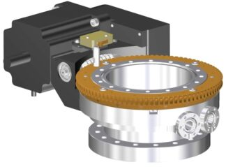 Differentially pumped rotary seal 360º rotation. Stepper motor operated. DN100CF flange with tapped flanges