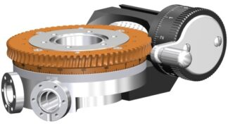 Differentially pumped rotary seal 360º rotation. Manual operated. DN40CF flange with tapped flanges
