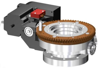 Differentially pumped rotary seal 360º rotation. Stepper motor operated. DN63CF flange with tapped flanges