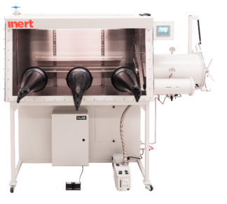 I-Lab 3 Glovebox including large and small antechamber right hand side. Including O2 and H2O analyzers