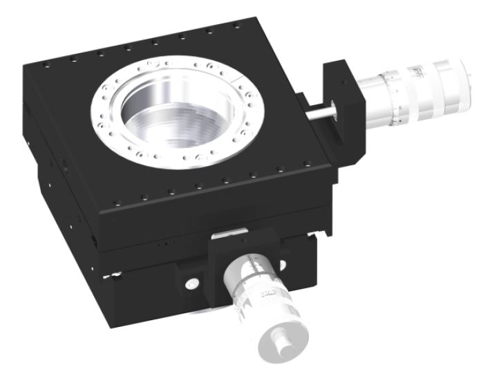 XY-table manual operated 25mm travel, DN100CF base and travel flange