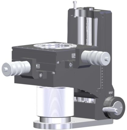 Manual operated 500mm Z-manipulator with +/- 25mm X & Y translation. DN100CF mounting and travelling flange