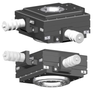 XY-table manual operated 25mm travel, DN100CF base flange DN63CF travel flange
