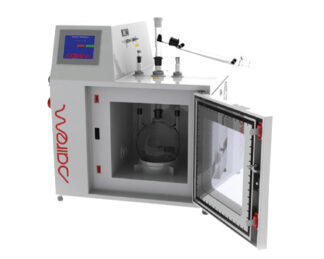 0-2kW microwave-assisted reactor (2450 MHz) for reactions in liquid, solid and gas phase. Dimension 300 x 300 x 300mm.